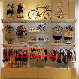 China Kids clothing kiosk design with clothing display racks usine