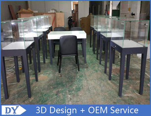 China Manufacturer supplier modern simple style wooden gray color museum exhibit cases with lights usine
